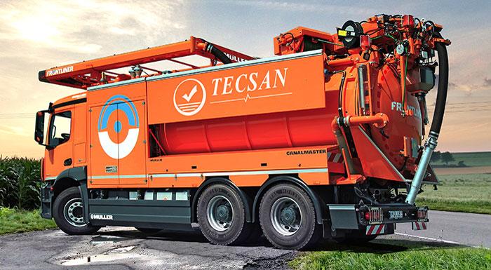 control del ciclo integral del agua - camiones de limpieza de tuberías. Tecsan