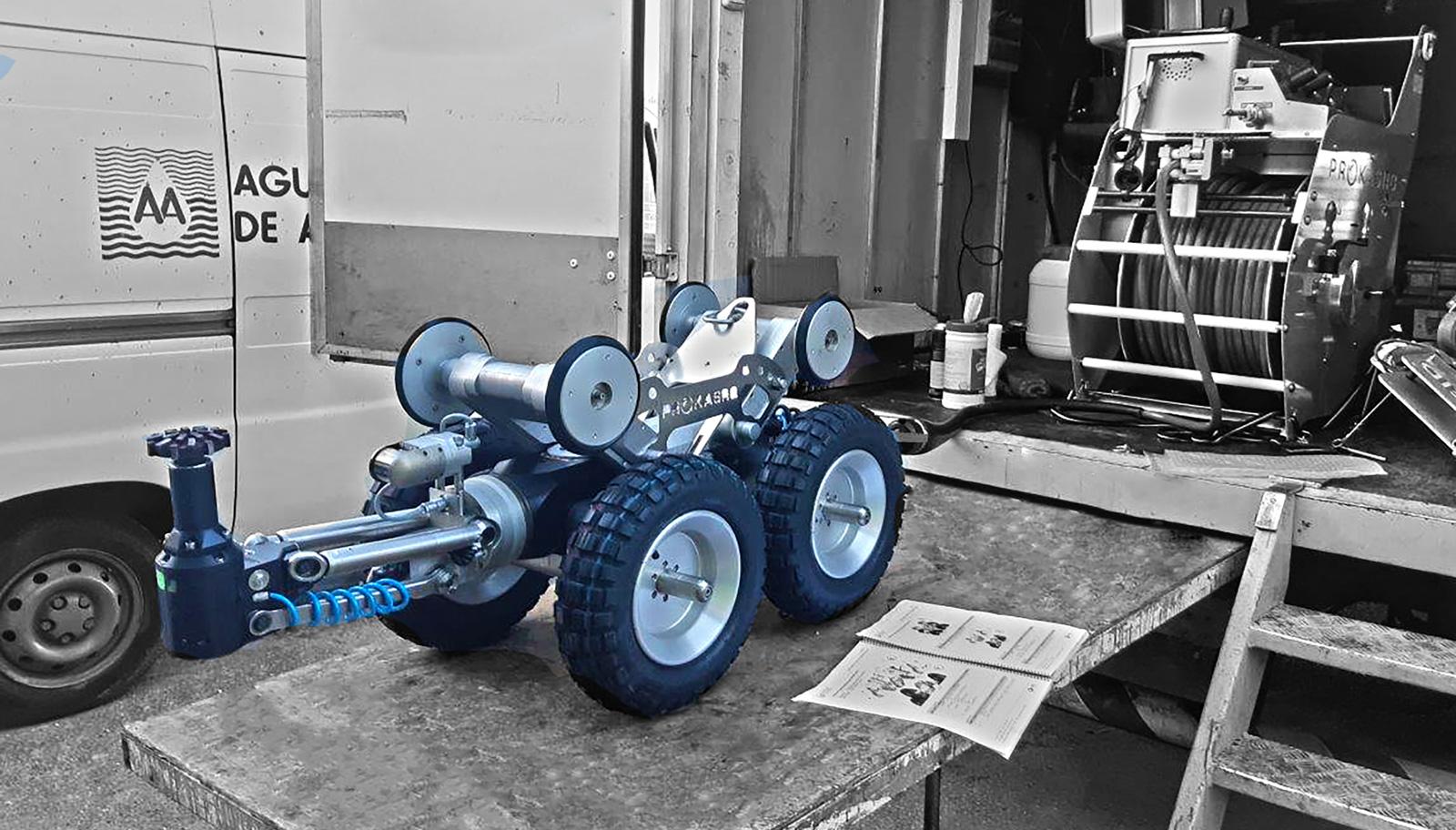 Aguas de Alicante adquiere un robot de fresado para el mantenimiento de la red de saneamiento