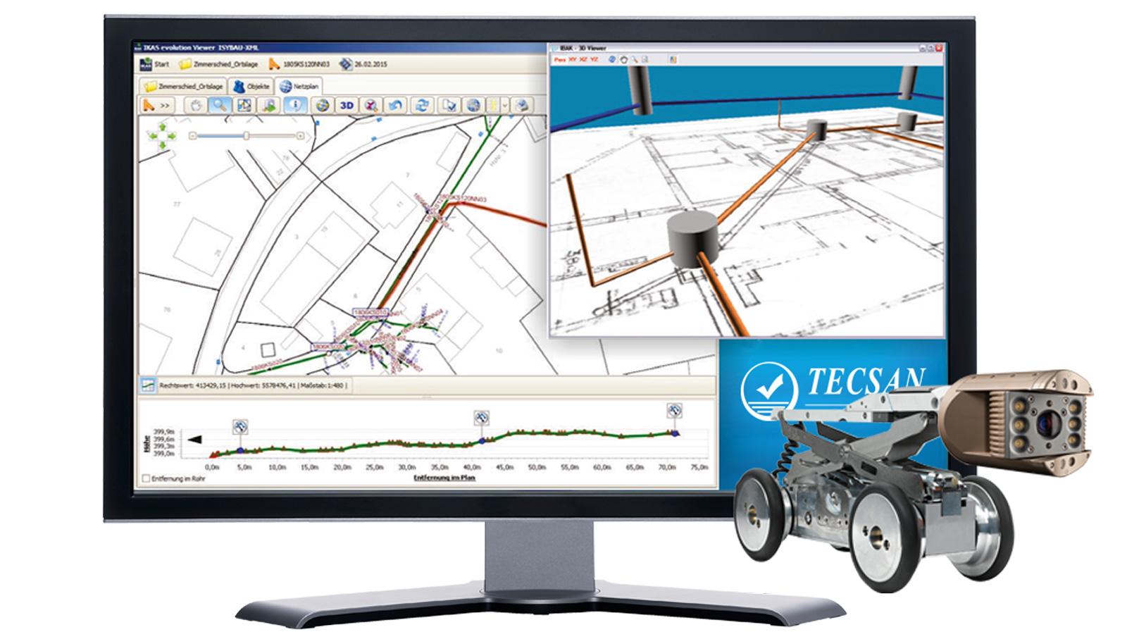 Inspección 3D-GeoSense de IBAK: información tridimensional de las redes de saneamiento